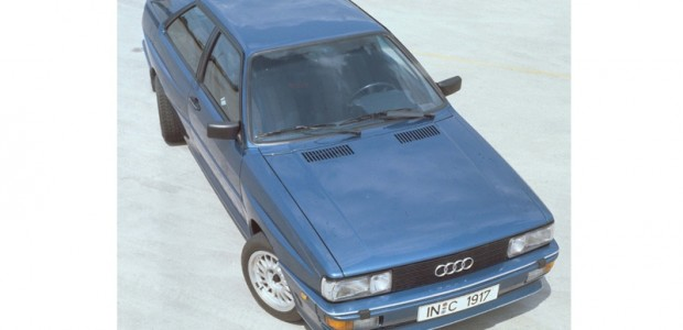Audi quattro with four-wheel steering_ built in 1984