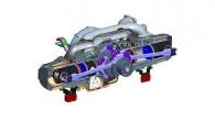 """Šāds dzinējs ir ievērojami vieglāks, kompaktāks un par 30% ekonomiskāks nekā tradicionālu konfigurāciju motori. Patiesībā dzinējs ar pretēji vērstiem virzuļiem(""""Opposed..."""