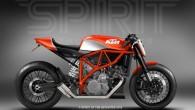 """Dizaina ateljē """"Spirit of Seventies"""" izveidojusi elegantu vintāžas modeļa konceptu uz """"KTM LC8"""" bāzes. Projekts gan pagaidām ir tikai skiču..."""