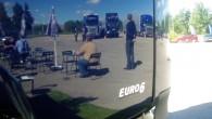 """""""Scania"""" karavāna, piestājot četrās Latvijas pilsētās, dod iespēju esošajiem un potenciālajiem klientiem detalizēti iepazīt jauno """"Streamline"""" modeli, kā arī informē..."""