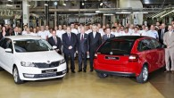 """Šodien (20.08.) no Mladaboļeslavas rūpnīcas montāžas konveijera nobraukuši pirmie """"Škoda Rapid Spaceback"""". Līdz šim """"Škoda"""" budžeta klases modelis tika izgatavots..."""
