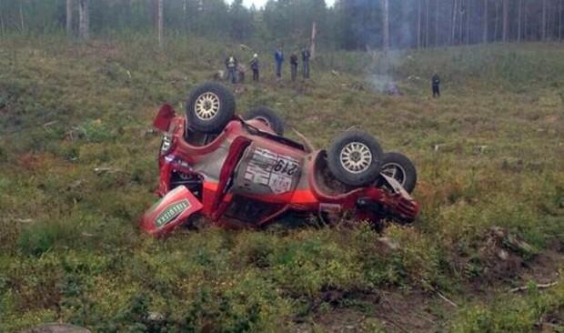 Tapio Suominena avārija (Foto no Reautoclub.com)