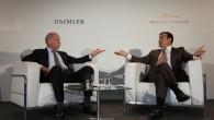 """""""Renault-Nissan"""" alianses un """"Daimler AG"""" izpilddirektori Frankfurtes izstādes preses brīfingā pastāstīja par kompāniju partnerības veiksmīgo attīstību un mērķi paplašināt sadarbību..."""