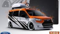 """Jaunās paaudzes """"Ford Transit Connect"""" vēl nemaz nav ieradies tirgū, bet ražotājs jau sagatavojis vairākas itin spilgtas mazā furgona tūninga..."""