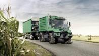 """Hannoverē notiekošajā starptautiskajā lauksaimniecības izstādē """"Agritechnica"""" kompānija """"Mercedes-Benz"""" prezentējusi jaunās paaudzes utilitāro kravinieku """"Unimog"""". Ārēji jaunais modelis no līdzšinējā atšķiras..."""