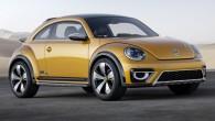 """Krosoveru mānija aizgājusi jau tik tālu, ka """"Volkswagen"""" pat no sava ļoti miermīlīgā """"New Beetle"""" izgatavojis visādceļu modifikāciju. Dzeltenais """"Beetle..."""
