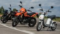 """Baltkrievu motociklu ražotājs """"M1nsk"""" gatavojas laist klajā oriģinālu un salīdzinoši nedārgu videi draudzīgu divriteņu transportlīdzekli. Elektroskūterim izdomāts neparasts nosaukums –..."""