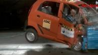 """Neatkarīgā britu satiksmes drošības organizācija """"Global NCAP"""" veikusi indiešu mazuļa """"Tata Nano"""" triecientestu pārbaudi. Frontālā trieciena testā ar stacionāru šķērsli..."""