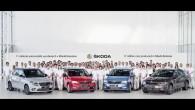 """Nupat Mladaboļaeslavas rūpnīcā Čehijā svinīgos apstākļos no galvenā montāžas konveijera nobraucis 11-miljonais """"Škoda"""" markas automobilis. Mladaboļeslavā tiek izgatavotas aptuveni divas..."""