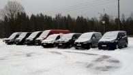 """Somijas ziemeļos, kur arī šogad ziema ir barga, aizvadīts tradicionālais vieglā komerctransporta tests """"Arctic Van Test 2014"""", ko rīko trīs..."""