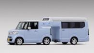 """Gaidāmajai izstādei """"Japan Camping Car"""", kas norisināsies no 13. līdz 16. februārim, vietējais ražotājs """"Honda"""" ir sagatavojis simpātiska tandēma konceptu..."""