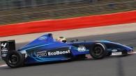 """Ženēvas autoizstādē """"Ford Motor Co."""" Stendā aplūkojams jaunās paaudzes vienvietīgs sacīkšu automobilis, kas aprīkots ar 1,6litru """"EcoBoost"""" dzinēju. Atbilstoši FIA..."""