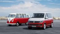 """Trešdien, 15.aprīlī koncerna """"Volkswagen AG"""" komerctransporta nodaļa """"Volkswagen Commercial Vehicles"""" Hannoveres ražotnē laida klajā jauno, pēc skaita jau sesto T..."""