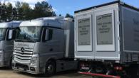 """Vācu reklāmas kompānija """"RoadAds"""" prezentējusi interesantu risinājumu – 64-collīgu """"E Ink"""" ekrānu, kas uzstādāms kravas automobiļa aizmugurē, un tiešsaistes režīmā..."""