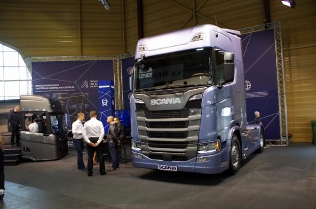 """Scania"" stendā ritēja aktīva darbība"
