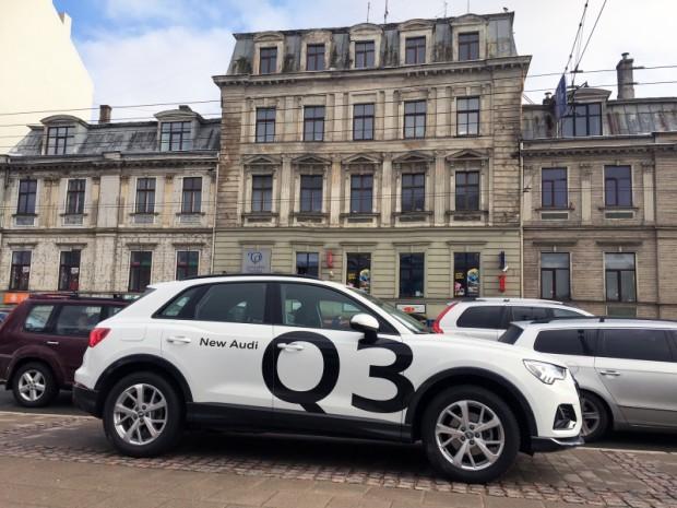 """""""Audi Q3"""" ir saglabājis raksturīgo, mazliet kupejveidīgo siluetu."""