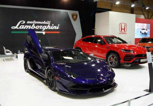 "Izstādes spilgtākais objekts ""Lamborghini Aventador SV J"""