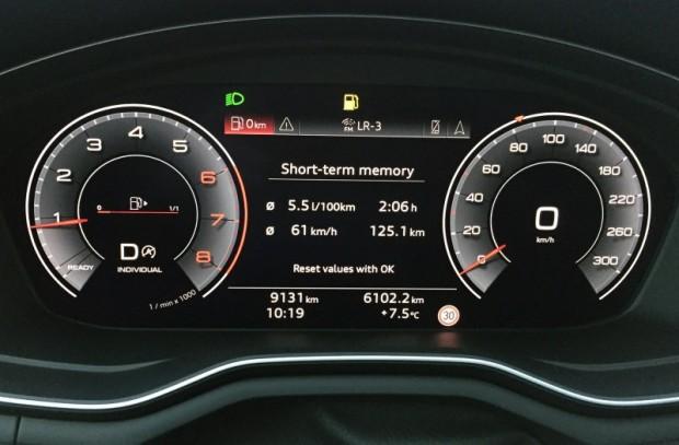Arī ar A4 40 TFSI var braukt taupīgi